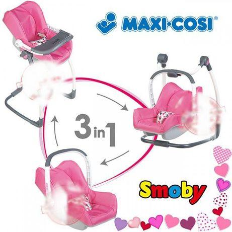 2 ПО ЦЕНЕ 1 Стульчик для куклы MAXI COSI 3 в 1 Smoby 240226 240230