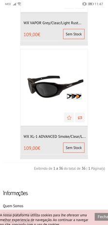 Óculos de tiro wx novos