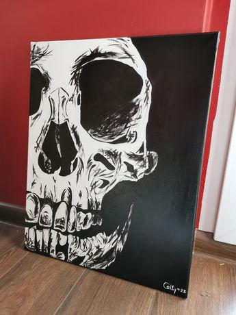 Obraz 40x50 cm czaszka mroczny rock punk metal death