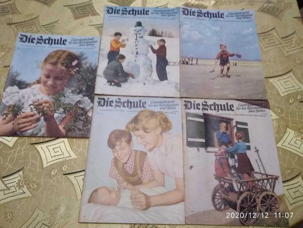Die Schule miesięcznik dla rodziców 5 numerów z 1966 r.