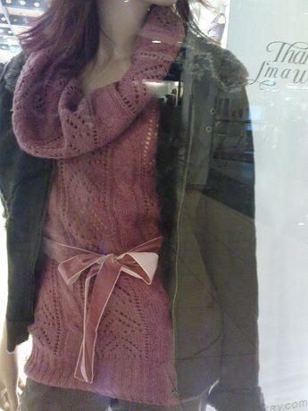 Orsay sweter z krótkim rękawem i dużym golfem r. S