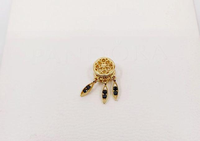 Złoty charms do Pandory próba 585