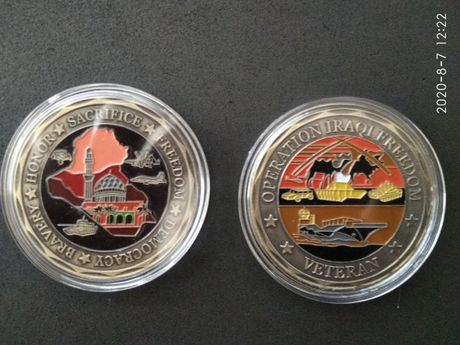 Weteran z Iraku. Coin , Veteran of Operation Iraqi Freedom
