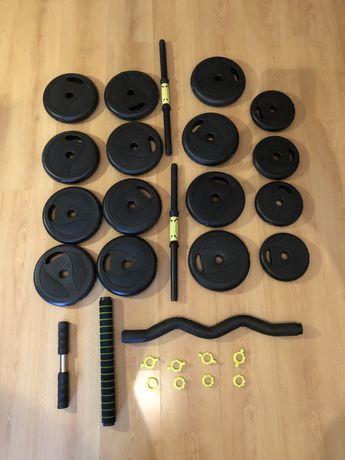 Kit pesos de musculação (40kg) + Barras