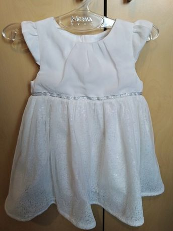 Sukienka i płaszczyk do chrztu 68 +dodatki