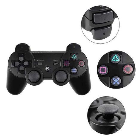 Comando Wireless PS3 BLUETOOTH e Bateria Dual Shock Playstation 3 e PC