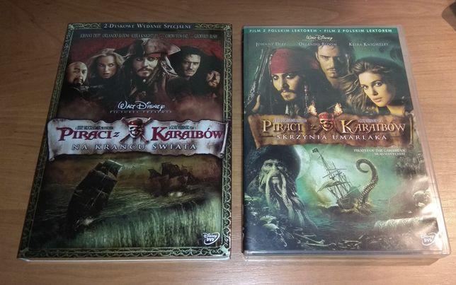 Filmy Piraci z Karaibów DVD 2 płytowa edycja dwie części