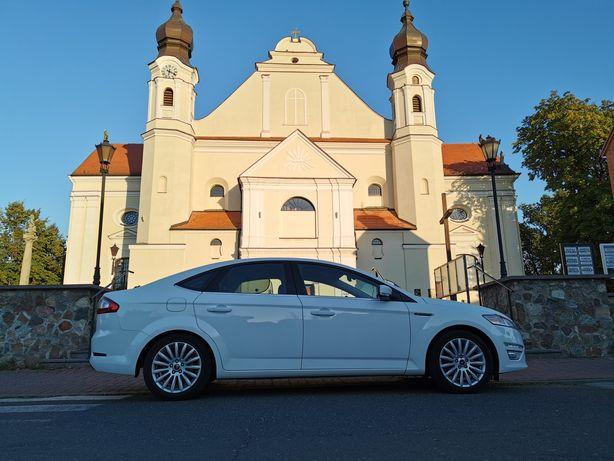 Białe auto, samochód limuzyna do ślubu wesela Najtaniej Pabianice Łask
