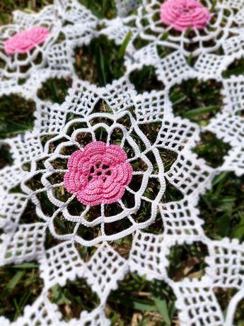 rendas da avó - flores rosa