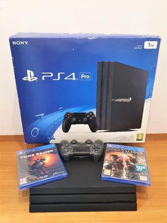Konsola PS4 Pro 1Tb + 2 gry