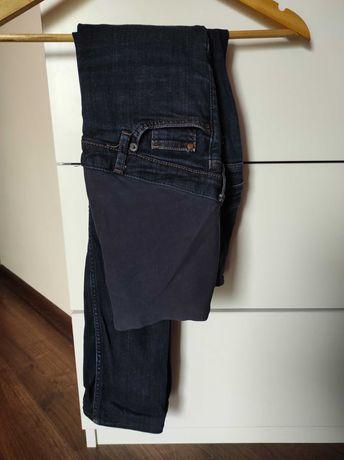 Spodnie ciazowe 36 h&m mama jeans granat