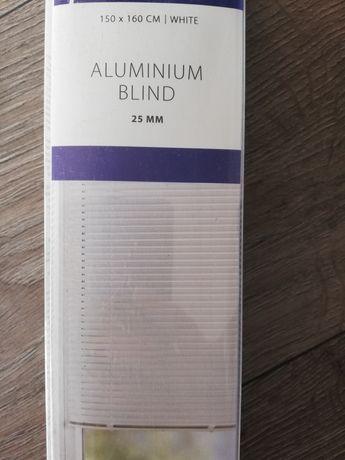 Żaluzja aluminiowa biała Nowa 150x160