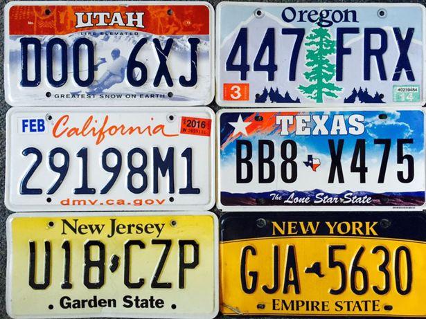 автомобильные номерные знаки США авто номера license plates USA