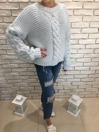 VOGUE BOYFRIEND Spodnie jeans z dziurami S HIT