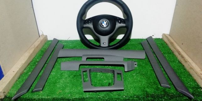 Conjunto volante e frisos interiores bmw Pack m e46 sedan ou Touring
