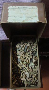 Puzzles antigos em madeira com mais de 60 anos