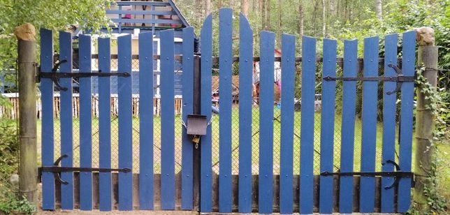 Brama wraz ze słupami 3,7m solidna i mocne zawiasy