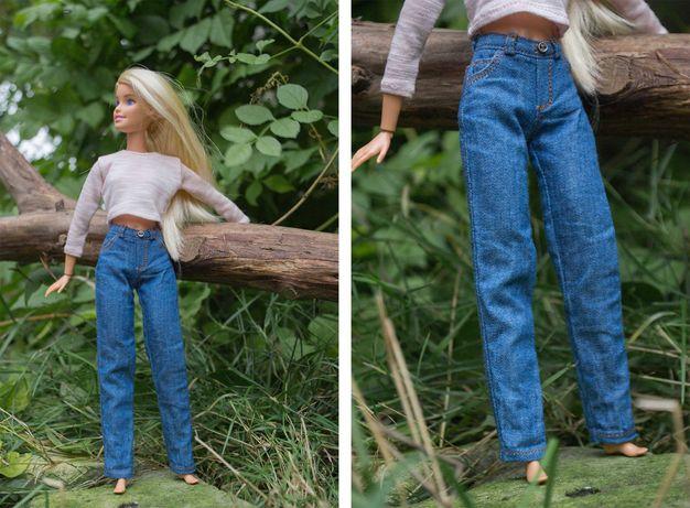Джинсовые брюки для куклы Барби, джинсы для Барби, одежда для Барби