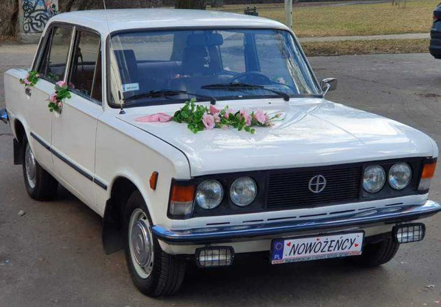 Auto do ślubu Fiat 125p Wspaniały Ślub