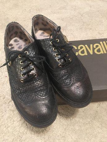 Полуботинки лоферы мокасины туфли Roberto Cavalli 36 размер