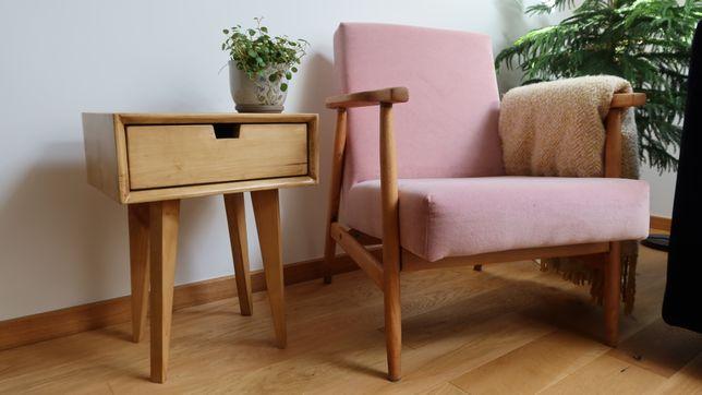 Stolik  pomocniczy nocny nakaslik stolik drewniany szafka