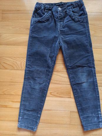 Spodnie welurowe - ciepłe