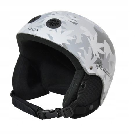 Kask narciarski snowboard Venom - Szary Liść rozmiar M