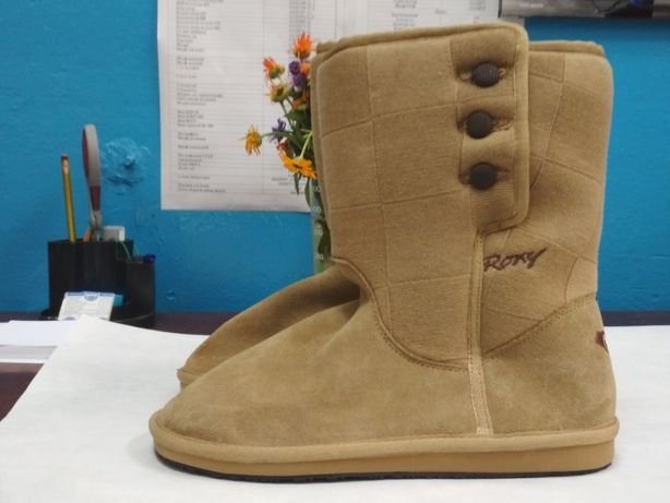 Зимние кожаные сапоги(угги) фирмы Roxy 41 р.