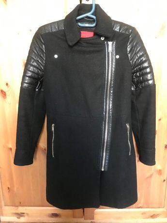 Płaszcz Mango typu biker z aplikacjami ze skóry XS