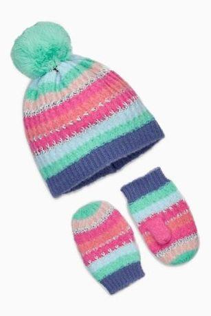 NEXT nowa czapka i rękawiczki 1-2 latka