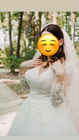Продам шикарное свадебное платье,Бровары