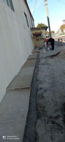 Отмостка, бетонные и земляные работы.