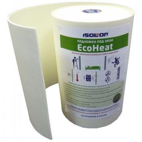 Звукоизоляция и утеплитель под обои, подложка под обои EcoHeat