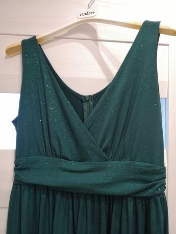 Długa brokatowa sukienka ciążowa i do karmienia