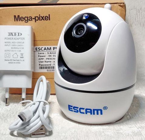 ESCAM PVR008 PTZ поворотная WiFi камера 2MP HD 1080P IP ONVIF H.265