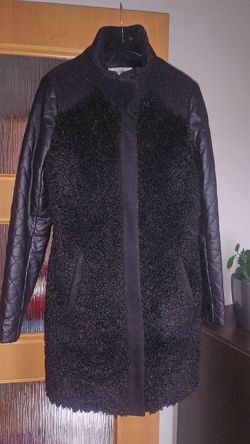 Kurtka płaszcz futerko baranek pikowane rekawy kupiona w Housie