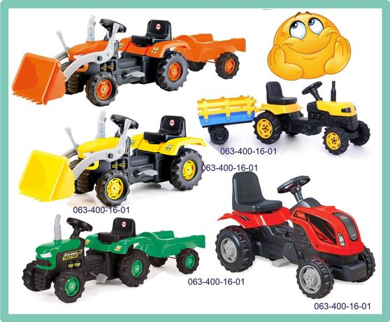 Трактор на педалях | Педальний трактор | Вело трактор з причепом