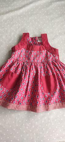 Sukienka NEXT, rozmiar 86 (12-18 miesięcy), czerwona.