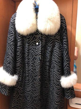 Пальто клёш большой размер