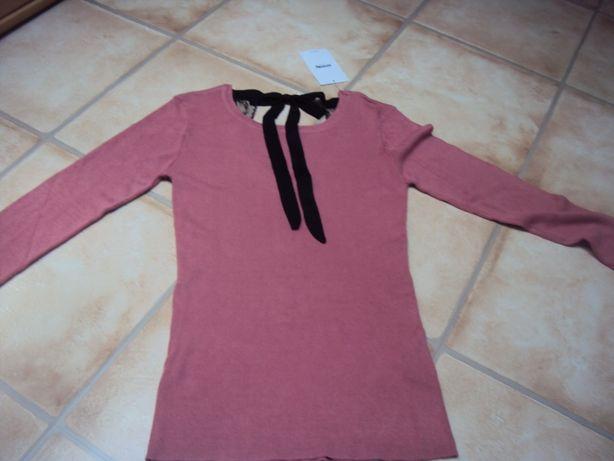 Sweter bluzka nowy bordowy z koronką m/l 38/40 sinsay