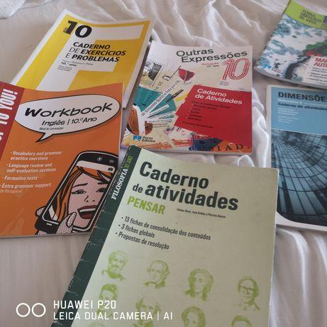 Cadernos de actividades 10 ano