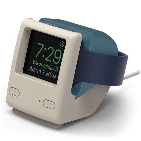 Suporte para carregador de Apple Watch inspirada no 1° iMac da Apple