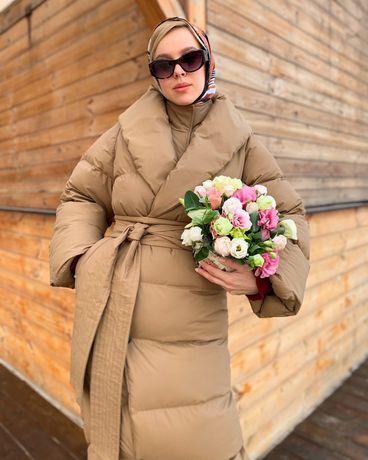 Пуховик длинный одеяло куртка пуховое пальто
