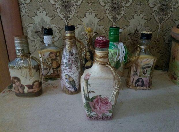 Сувенирные бутылочки, декупаж, декоративные бутылки