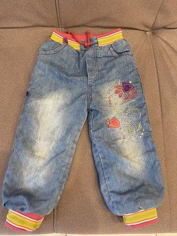 Теплые джинсы с меховой подкладкой