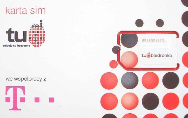 Karty startowe TuBiedronka / T-mobile - nowe - 2zł/szt - duże ilosći