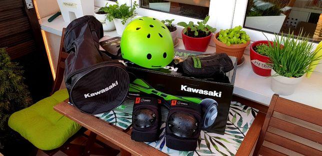 Komplet ochronny Kawasaki i Oxelo torba + kask + ochraniacze