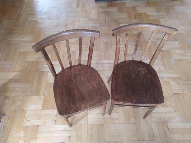 Stare krzesła gięte, do kuchni, jadalni, rustykalne