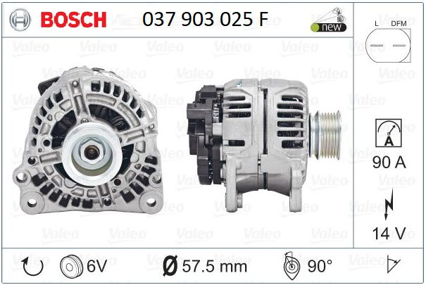 Alternator nowy Bosch VW/ AUDI 90A