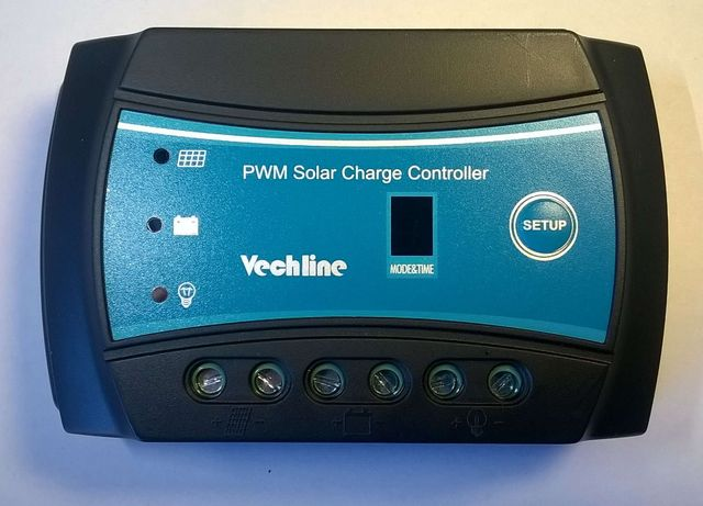 Regulador Painel Solar Bateria 12V 24V 10A 120W Controle de Iluminação